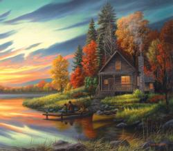 Lakeside Memories Cottage / Cabin Jigsaw Puzzle