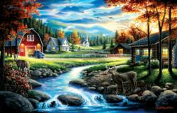Country Sunday Farm Jigsaw Puzzle