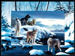 Ice Wolves Lakes / Rivers / Streams Jigsaw Puzzle