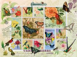 Butterfly and Hummingbird Flight Collage Jigsaw Puzzle