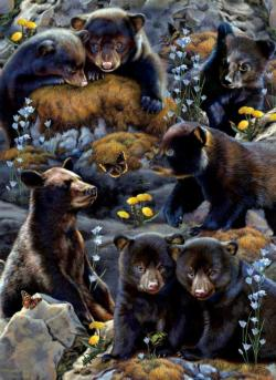 Bear Cubs Bears Large Piece