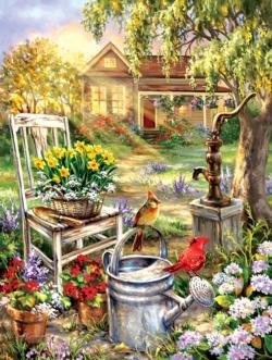 Spring Song Garden Jigsaw Puzzle
