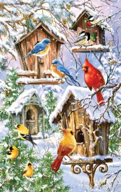 Snow Birds Snow Jigsaw Puzzle