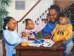 Daddy's Little Girls Domestic Scene Jigsaw Puzzle