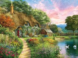 Sunset Country Cottage Cottage / Cabin Jigsaw Puzzle
