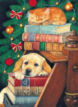 A Break in the Decorating Christmas Jigsaw Puzzle
