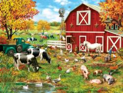 A Day on the Farm Chickens & Roosters Large Piece