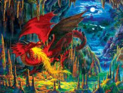 Fire Dragon of Emerald Dragons Jigsaw Puzzle