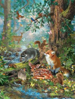 Woodland Forest Friends Forest Jigsaw Puzzle