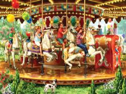 Carousel Ride - Scratch and Dent Carnival Jigsaw Puzzle
