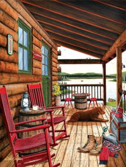 At the End of the Day Cottage / Cabin Jigsaw Puzzle