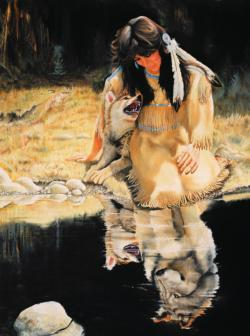 The Looking Glass Native American Jigsaw Puzzle