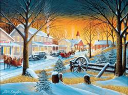Downtown Saturday Night Sunrise / Sunset Jigsaw Puzzle