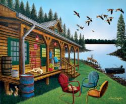 Break of Day Cottage / Cabin Jigsaw Puzzle