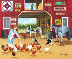 Hay For Sale Chickens & Roosters Jigsaw Puzzle