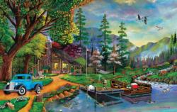 Close to Paradise Cottage / Cabin Jigsaw Puzzle