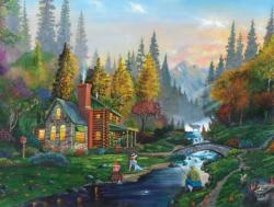 Weekend Getaway Cottage / Cabin Jigsaw Puzzle