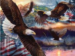 Land of Freedom Americana & Folk Art Jigsaw Puzzle
