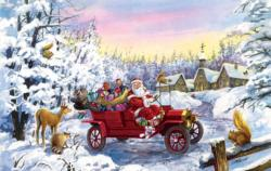 Thoroughly Modern Santa Christmas Jigsaw Puzzle