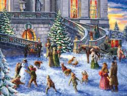 A Traditional English Christmas Family Fun Jigsaw Puzzle