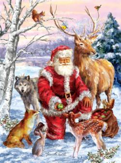 Santa's Menagerie Christmas Jigsaw Puzzle