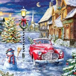 A Red Car for Christmas Christmas Jigsaw Puzzle