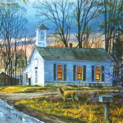 Evening Meeting Churches Jigsaw Puzzle