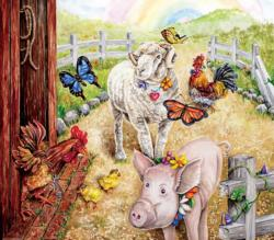 Summer of Love Pig Jigsaw Puzzle