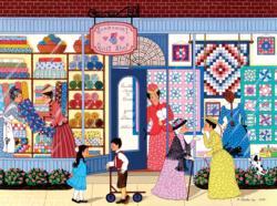 SunBonnet Quilt Shop Americana & Folk Art Jigsaw Puzzle