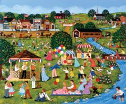 Fourth on the River Americana & Folk Art Jigsaw Puzzle