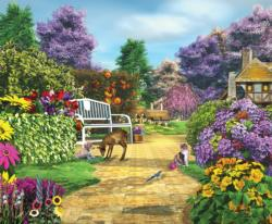 Peaceful Moment Garden Jigsaw Puzzle