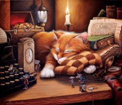 Night Life Domestic Scene Jigsaw Puzzle