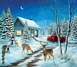 Unexpected Christmas Guests Snow Jigsaw Puzzle