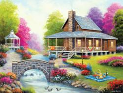 Spring Harmony Cottage / Cabin Jigsaw Puzzle