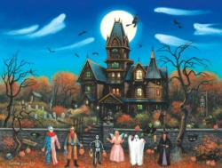 Trick or Treaters Beware Halloween Jigsaw Puzzle