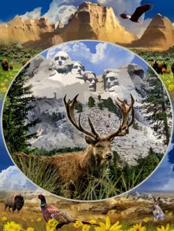 Mount Rushmore Monuments / Landmarks Jigsaw Puzzle