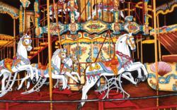 Carousel at the Fair Carnival Jigsaw Puzzle