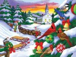 Winter in the Country Snowman Jigsaw Puzzle