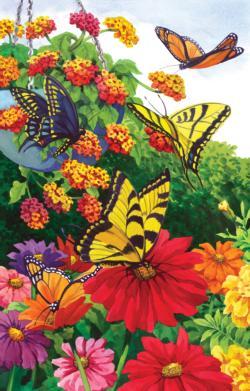 A Garden of Butterflies Garden Jigsaw Puzzle