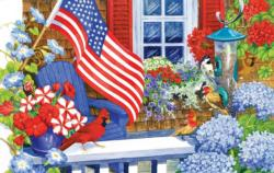 Summer Afternoon Flags Jigsaw Puzzle