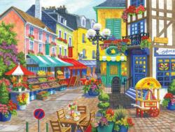 French Market Shopping Jigsaw Puzzle