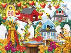 Autumn Backyard Flowers Jigsaw Puzzle