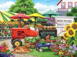 Farm Stand Bounty Sunflower Jigsaw Puzzle