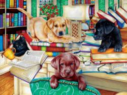 Reading Time Dogs Jigsaw Puzzle