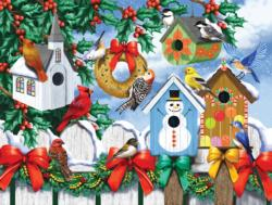 Winter Backyard Christmas Jigsaw Puzzle