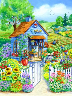 Path to the Garden Shed Garden Jigsaw Puzzle