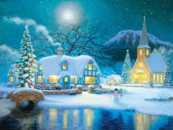 Country Snowfall Winter Jigsaw Puzzle