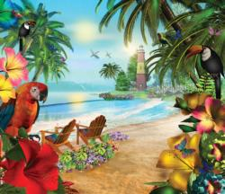 Island of Palms Beach Jigsaw Puzzle