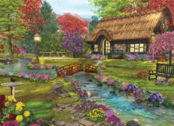 Welcome Home Valley Cottage / Cabin Jigsaw Puzzle