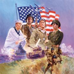 The Armed Forces Patriotic Jigsaw Puzzle